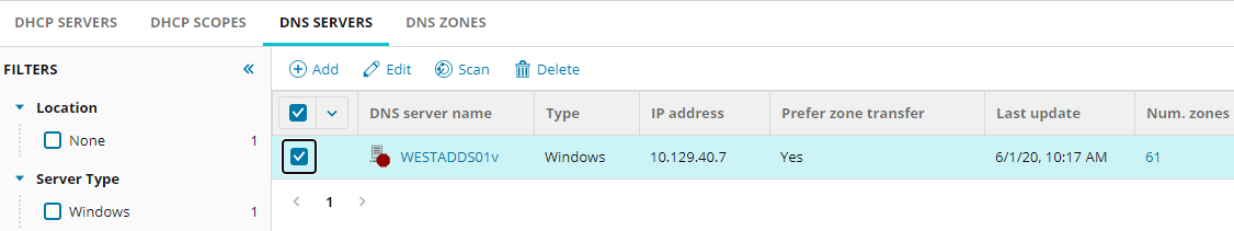 Add a DNS server