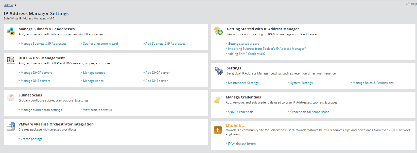 Integrate IPAM with VMware vRealize Orchestrator