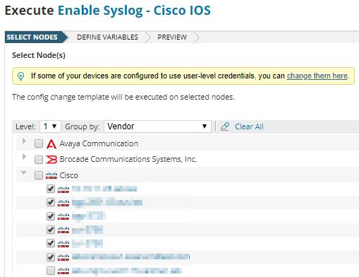 Configure a Cisco device to send syslog messages