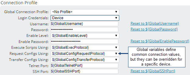 Specify Values For Global Variables