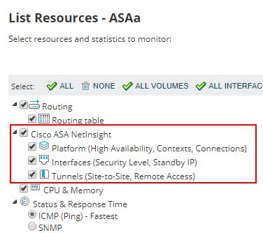 Set up monitoring Cisco ASA firewalls in NPM