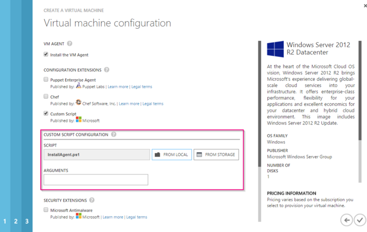 Automatically deploy Orion agent on Azure VMs