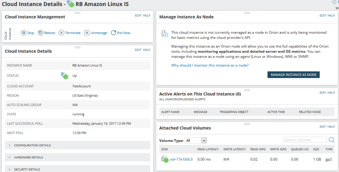 Explore cloud instances and VMs on the Cloud Summary page