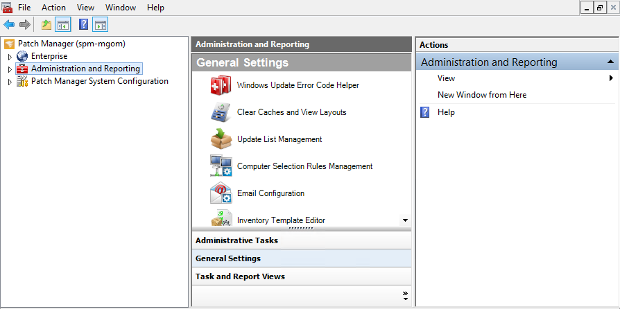 About the Patch Manager Administrator Console