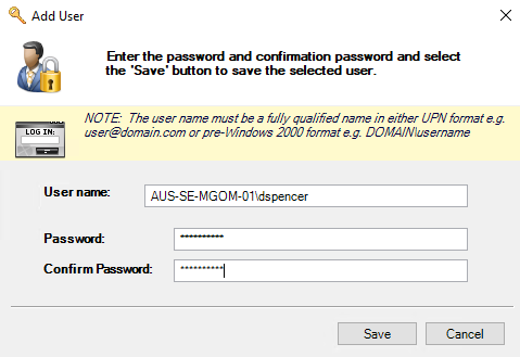 Populate the default credential ring