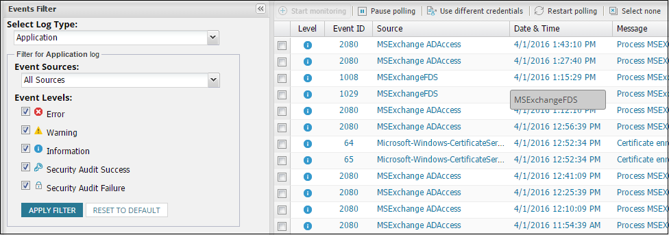 Real-Time Event Log Viewer